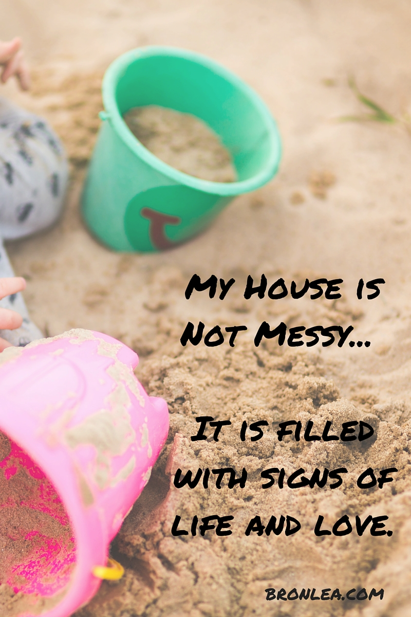 My House is Not Messy... It is filled with signs of life.and love.