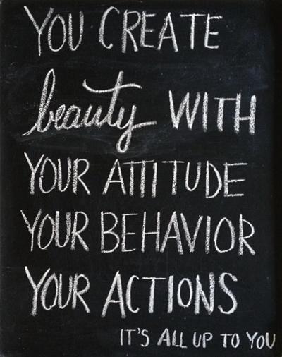 beauty chalkboard
