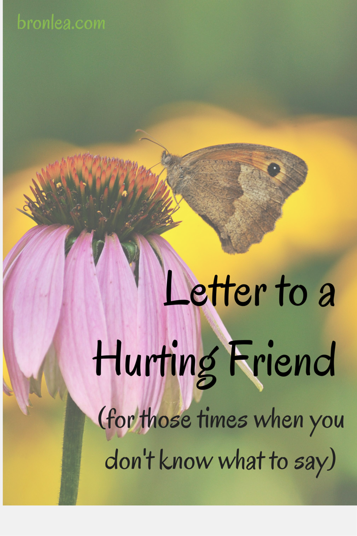 Letter To A Hurting Friend Bronwyns Corner