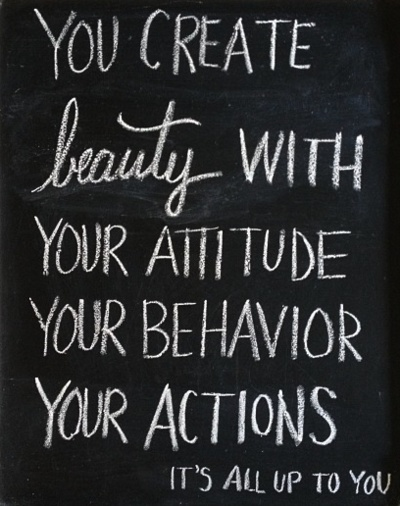 beauty chalkboard