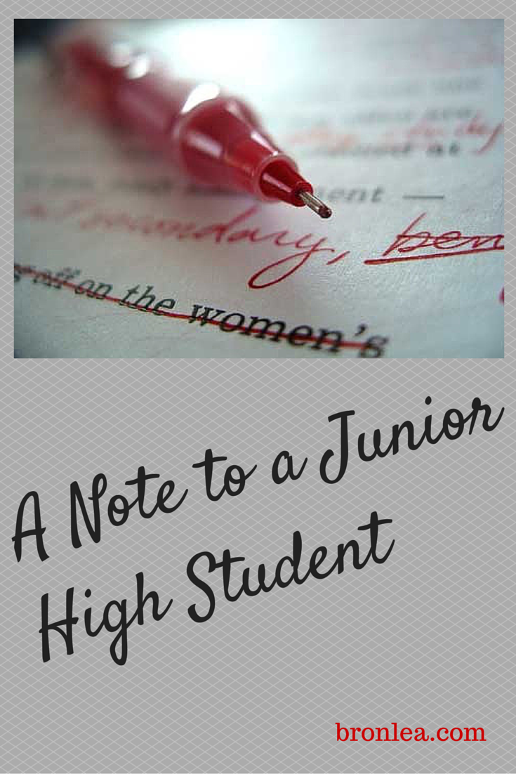A Note to a Junior High Student
