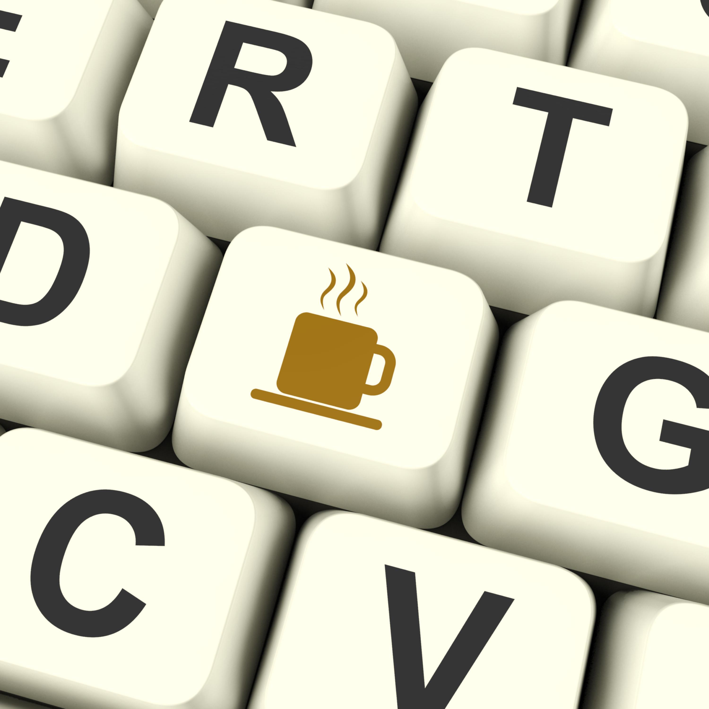 Coffee Mug Icon Computer Key As Symbol For Taking A Break