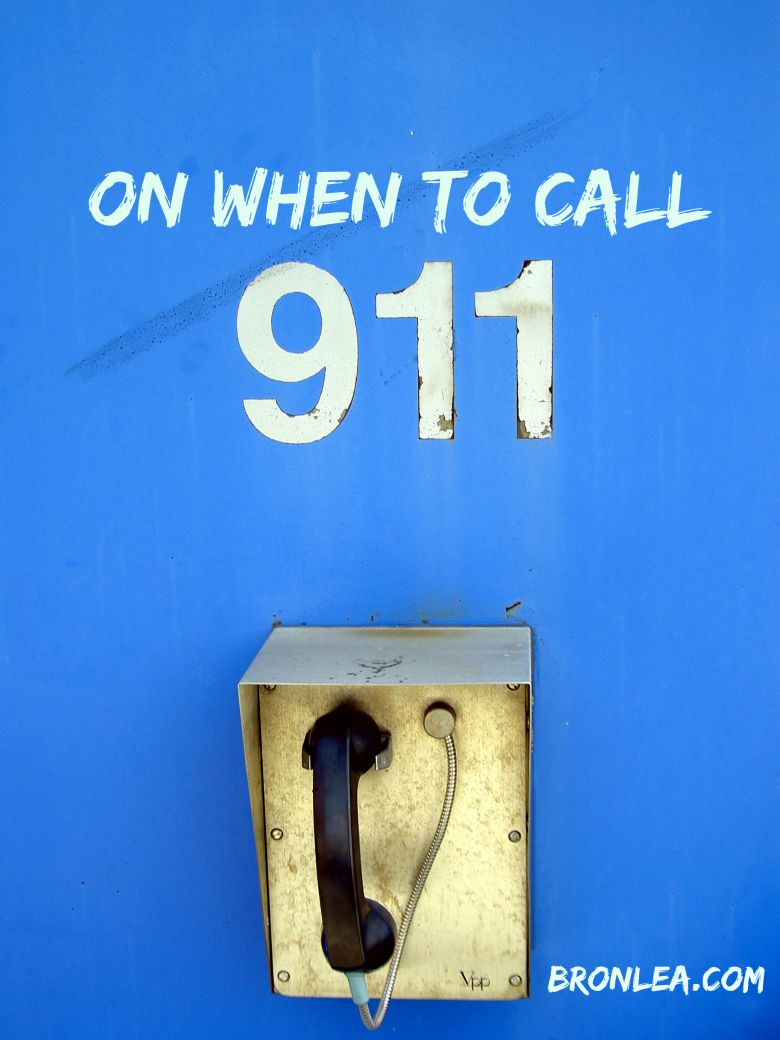 When to call 911